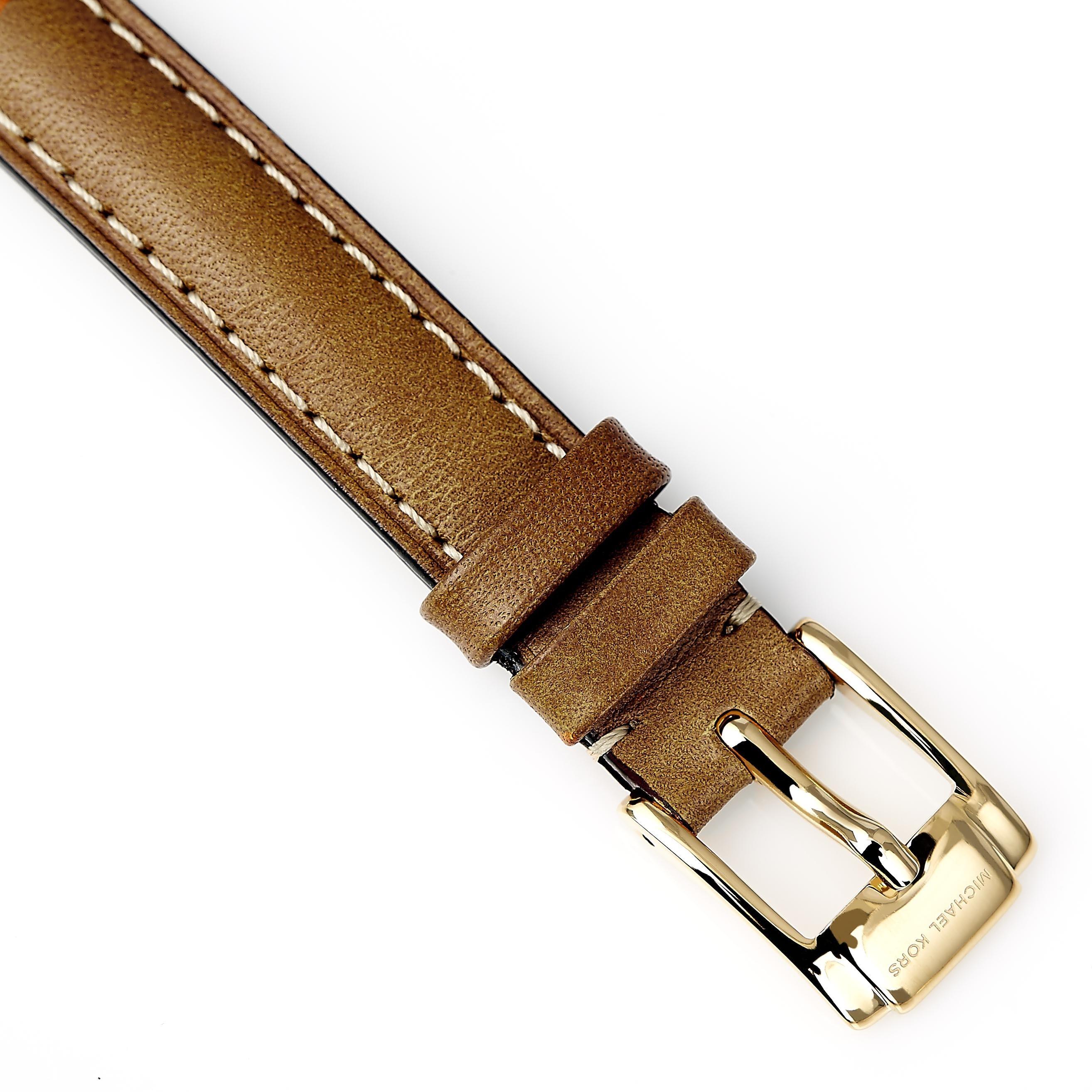 945ffad293637 Shop Michael Kors Women s Slim Runway Logo Dial Watch - Free Shipping Today  - Overstock - 9190541
