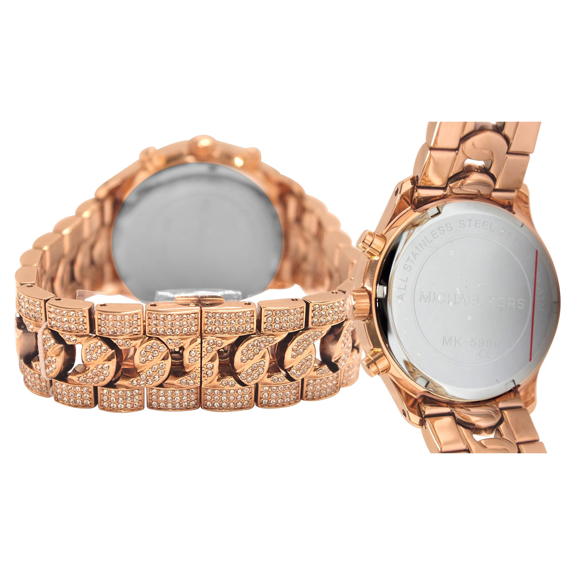 af8ff99cad1a Shop Michael Kors Women s MK5900 Lindley Chronograph Rose Crystal Pave Dial  Watch - Free Shipping Today - Overstock - 9193781
