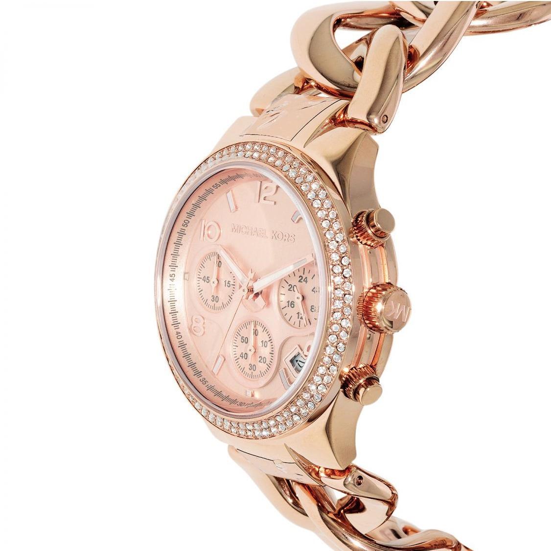 e0b7a5578e1c Shop Michael Kors Women s MK3247 Runway Twist Rosegold Watch - Free  Shipping Today - Overstock - 9194105