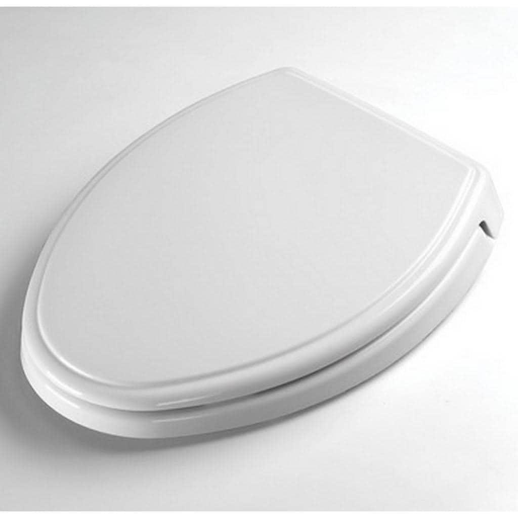 Toto plastic elongated toilet seat ss154 01 cotton white dress