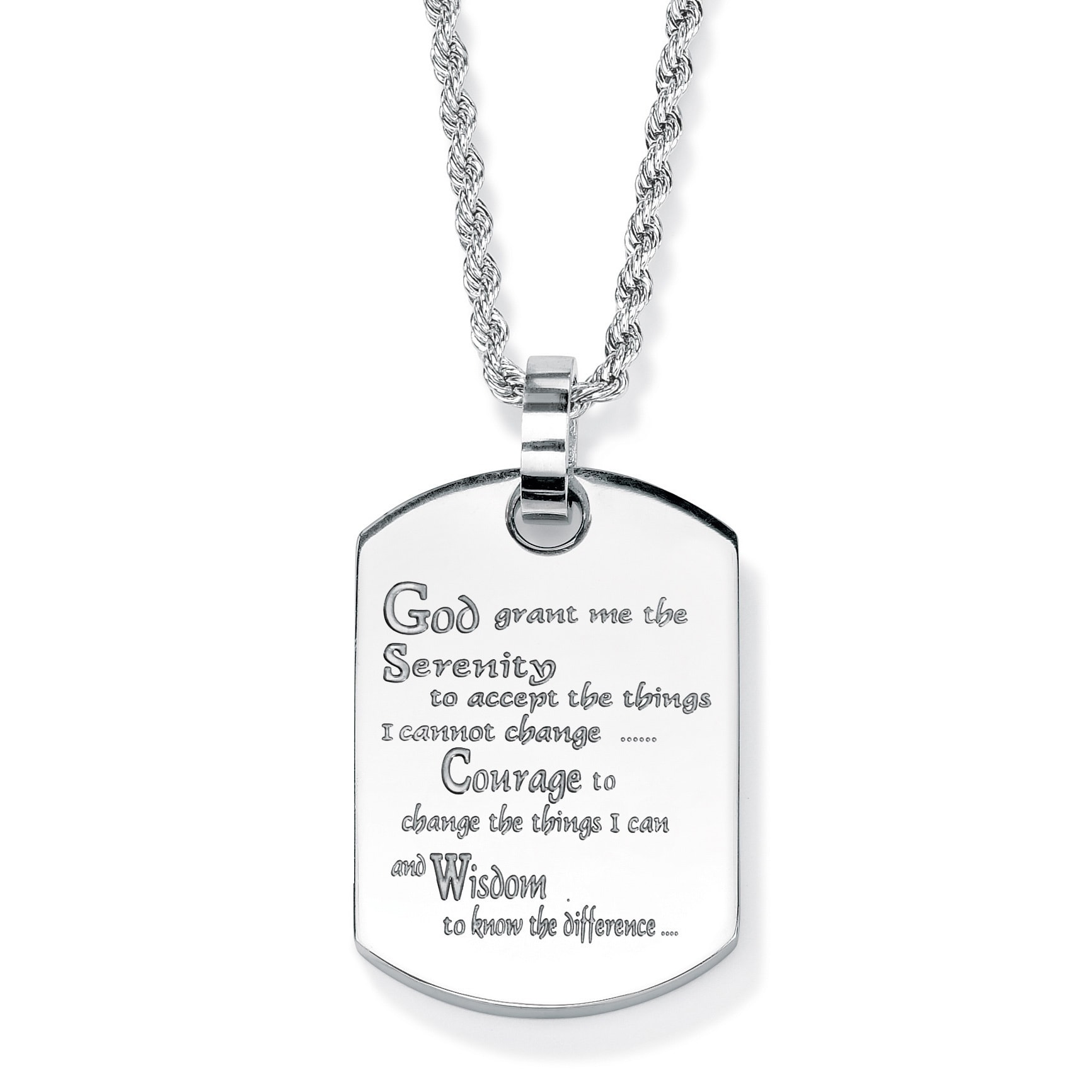 and overstock free on jewelry prayer over yellow serenity necklace stainless product tag dog watches cross orders shipping steel ip