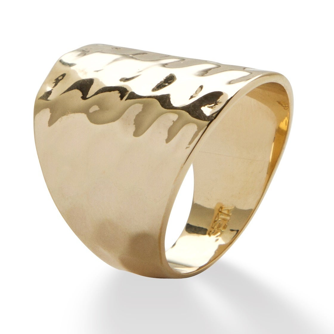 Toscana - 14k Gold-Plated Hammered-Style Band ORNLglpnIC