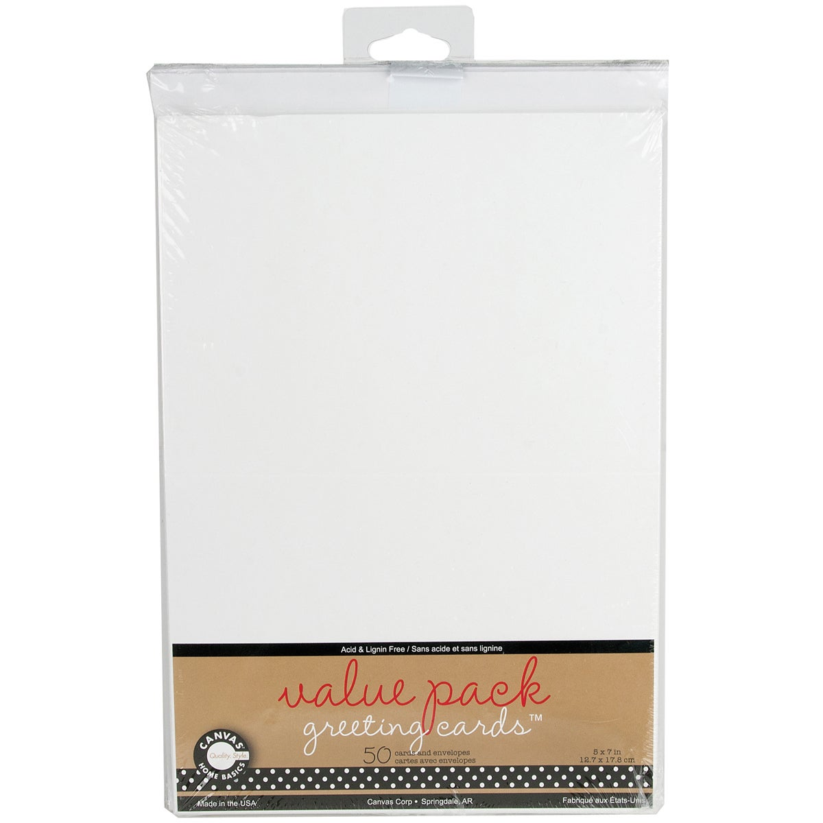 Value Pack Cards Envelopes 5inx7in 50pkg White Free Shipping On