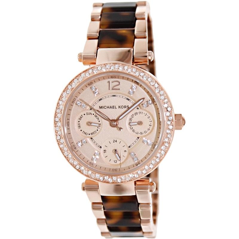2be5c4d29025 Shop Michael Kors Women s MK5841  Parker  Mini Two-Tone Watch ...