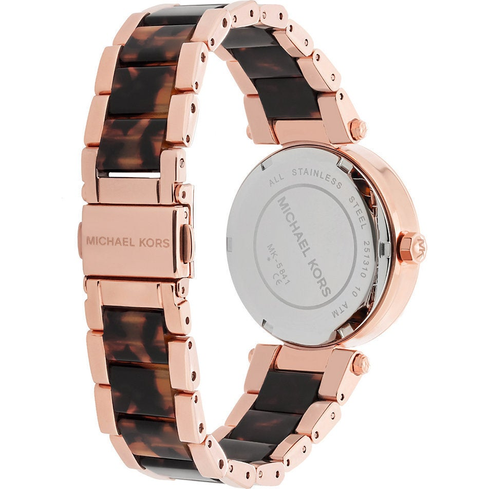 fb91c2f53517 Shop Michael Kors Women s MK5841  Parker  Mini Two-Tone Watch - Silver -  Free Shipping Today - Overstock - 9195802