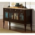 Madaleine Cherry Finish Marble Veneer Top Sideboard  by Greyson Living