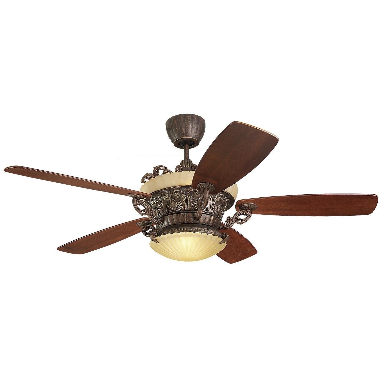 Monte Carlo Strasburg 56 inch 5 blade Tuscan Bronze Ceiling Fan