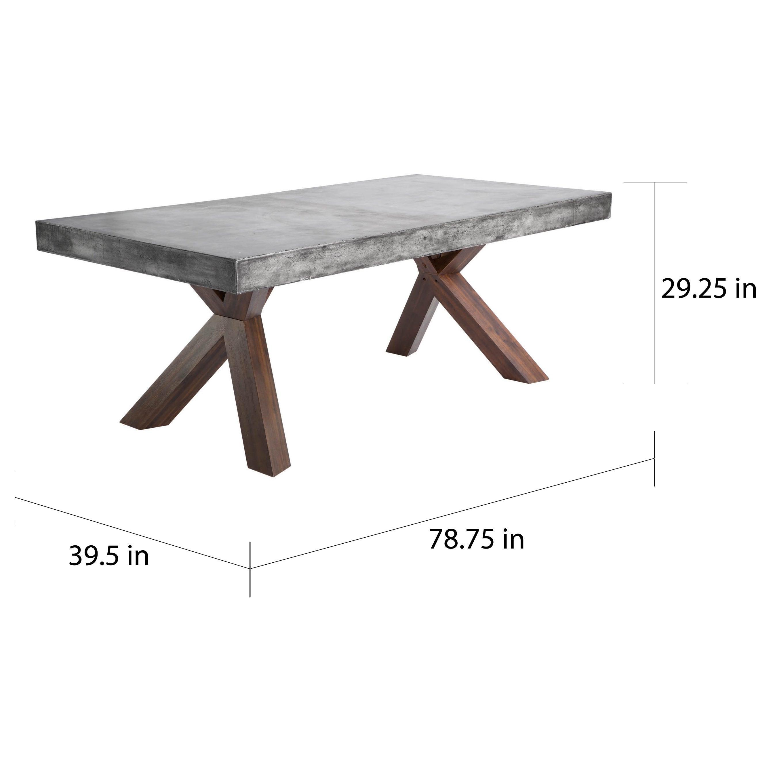 Shop Sunpan U0027MIXTu0027 Warwick Grey Rectangular Stone Top Dining Table   Free  Shipping Today   Overstock.com   9198427