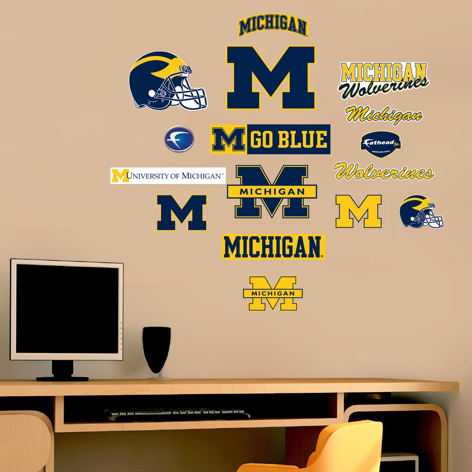 Fathead Jr Michigan Wolverines Logo Assortment Wall Decals Free