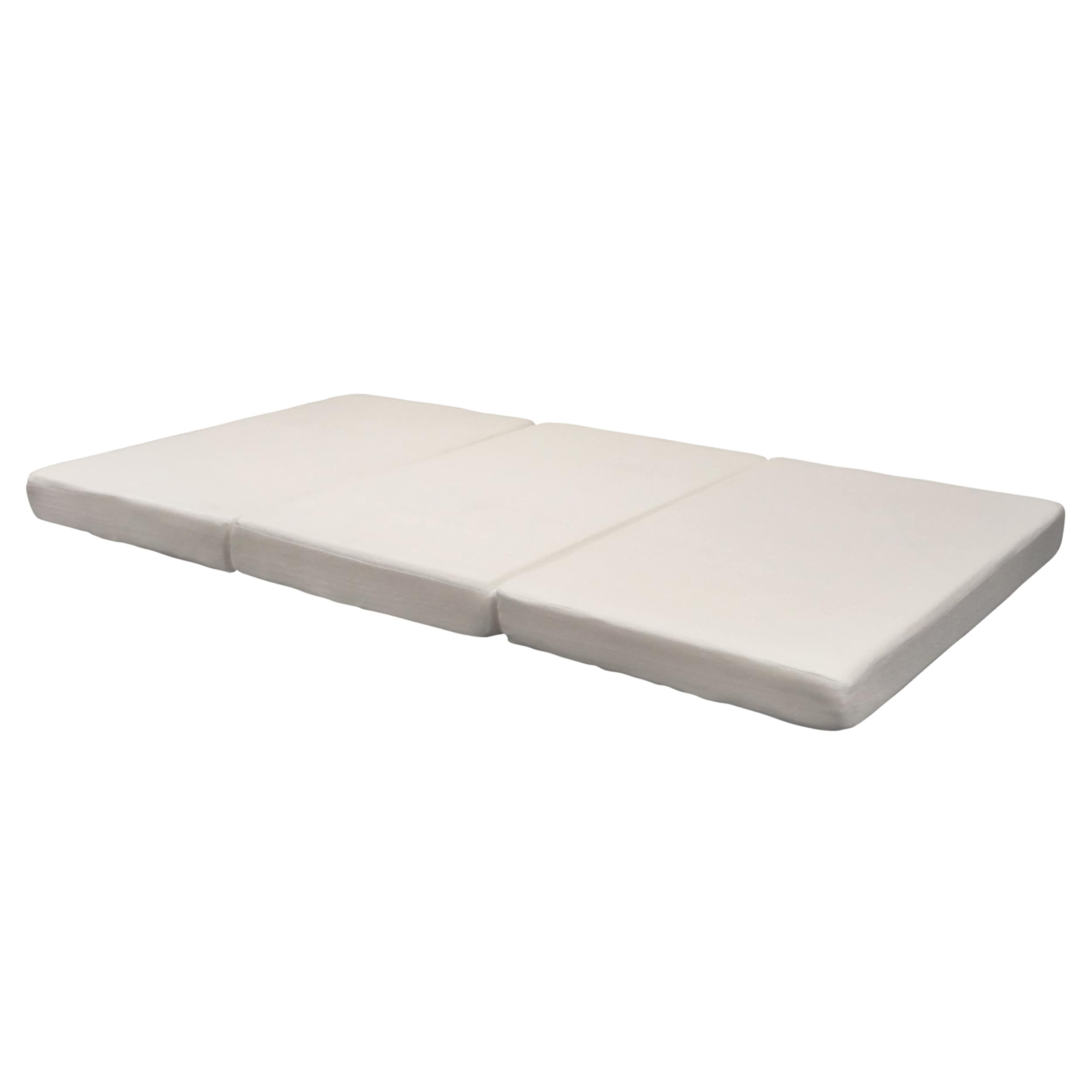 inch mattress fold shipping tri foam product folding gel lucid mats memory sofa garden home mat overstock free today