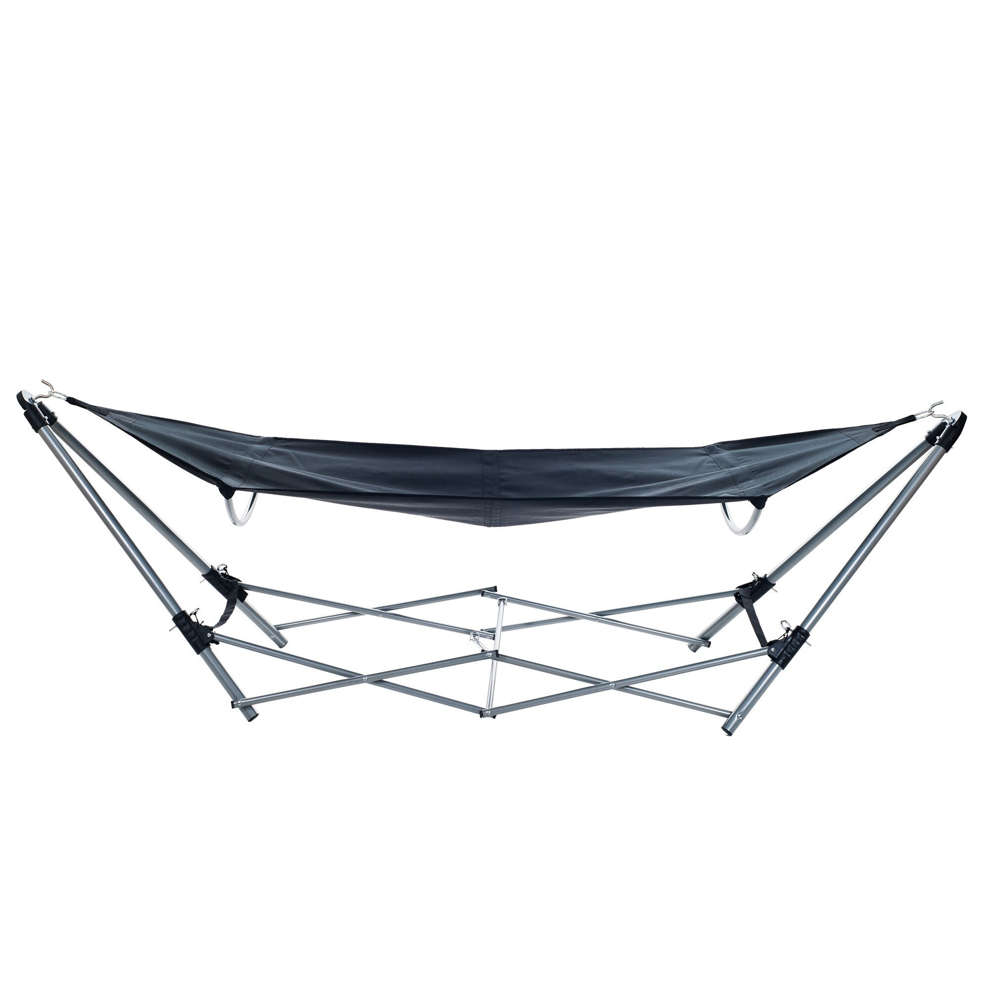 stalwart portable hammock with aluminum frame and carrying bag   free shipping today   overstock     16374436 stalwart portable hammock with aluminum frame and carrying bag      rh   overstock