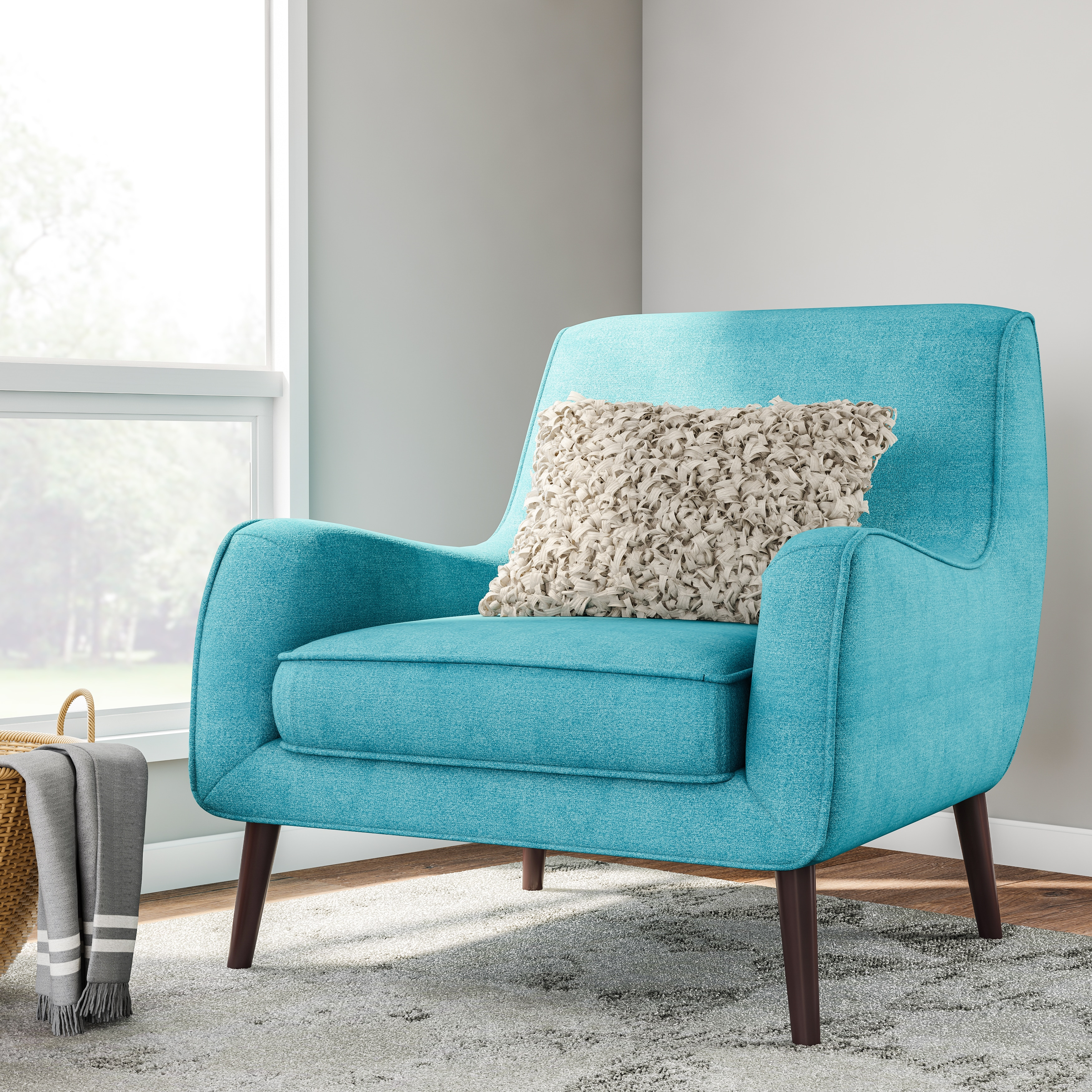 Shop Oxford Teal Modern Accent Chair - Free Shipping Today ...