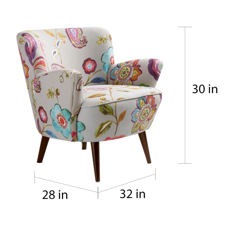 Wonderful Floral Accent Chair Painting