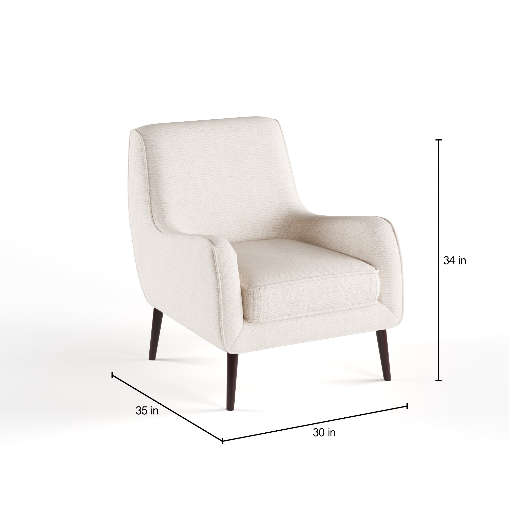 Superbe Shop Oxford Cream Colored Modern Accent Chair   Free Shipping Today    Overstock.com   9203102