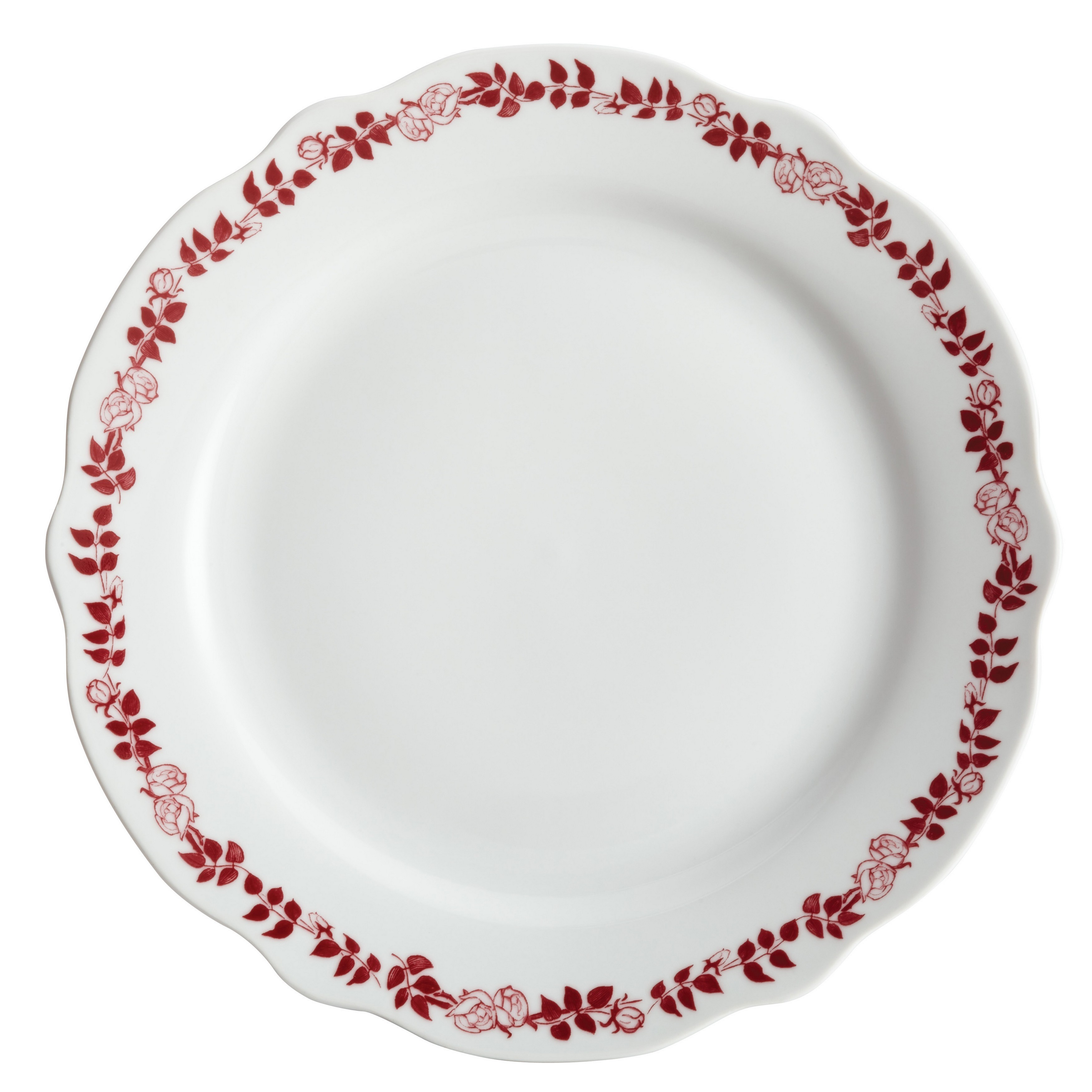 BonJour Dinnerware Yuletide Garland Print 4-piece Porcelain Stoneware Fluted Dinner Plate Set - Free Shipping Today - Overstock - 16377579  sc 1 st  Overstock & BonJour Dinnerware Yuletide Garland Print 4-piece Porcelain ...