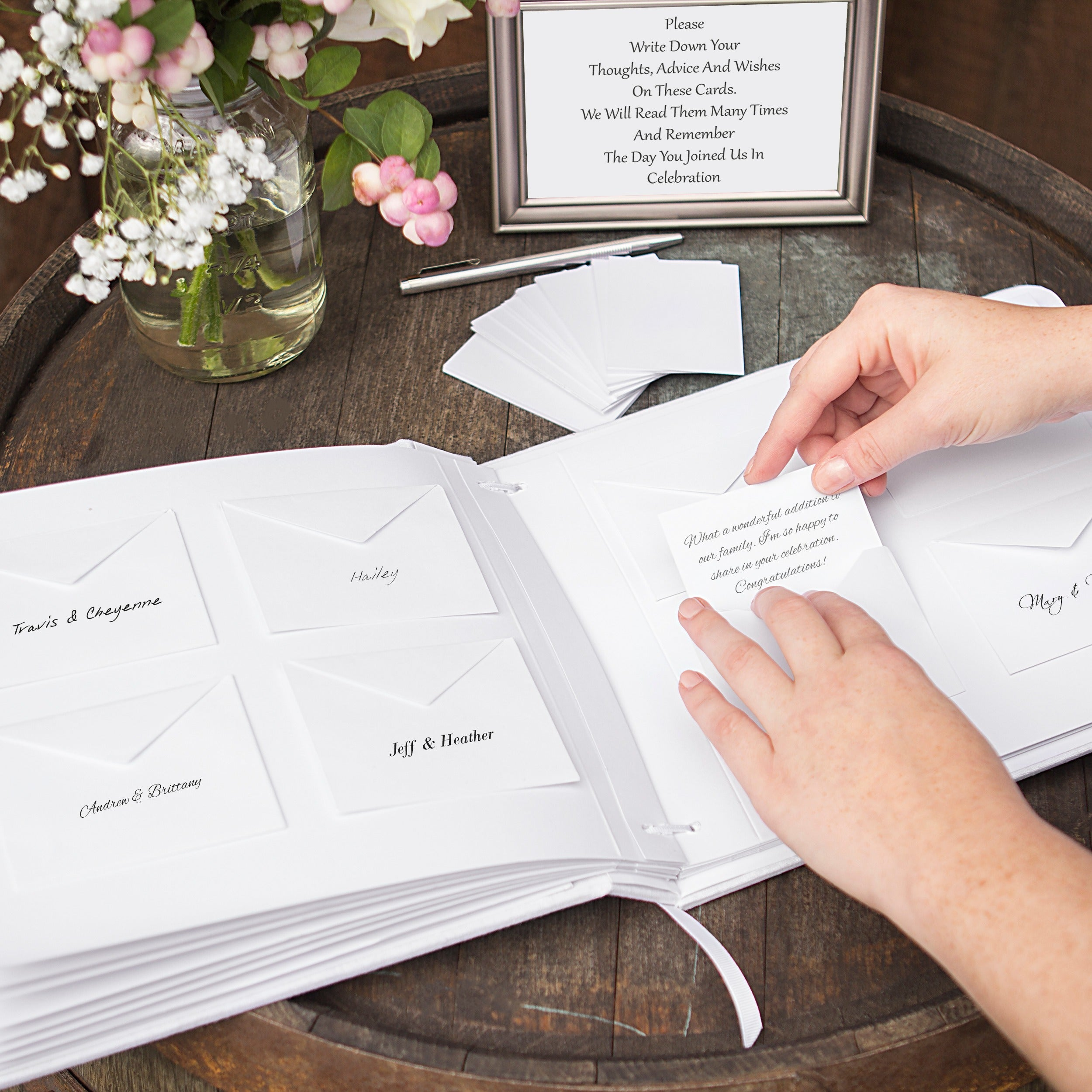 Wedding Wishes Envelope Guest Book Free Shipping Today Overstock