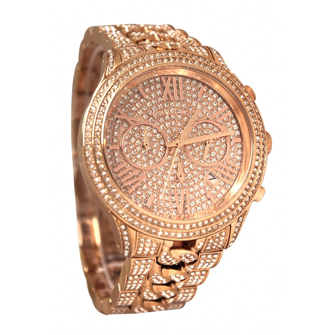 d6fae23b0c3c Shop Michael Kors Women s MK5900 Lindley Goldtone Stainless Steel Glitz  Watch - Free Shipping Today - Overstock - 9206989