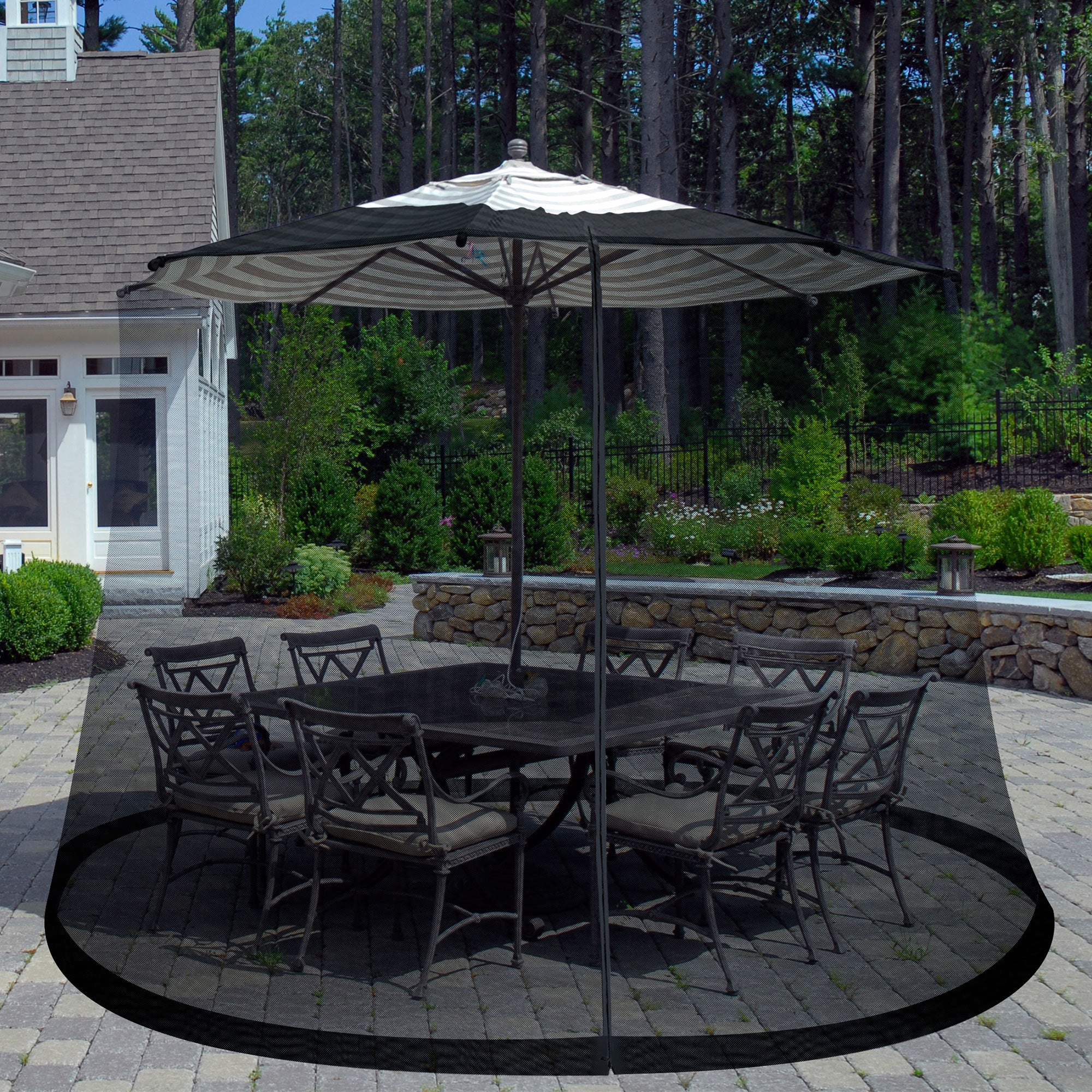 Pure Garden Bug Screen For 7 5 Foot Outdoor Umbrella Free Shipping On Orders Over 45 9207055