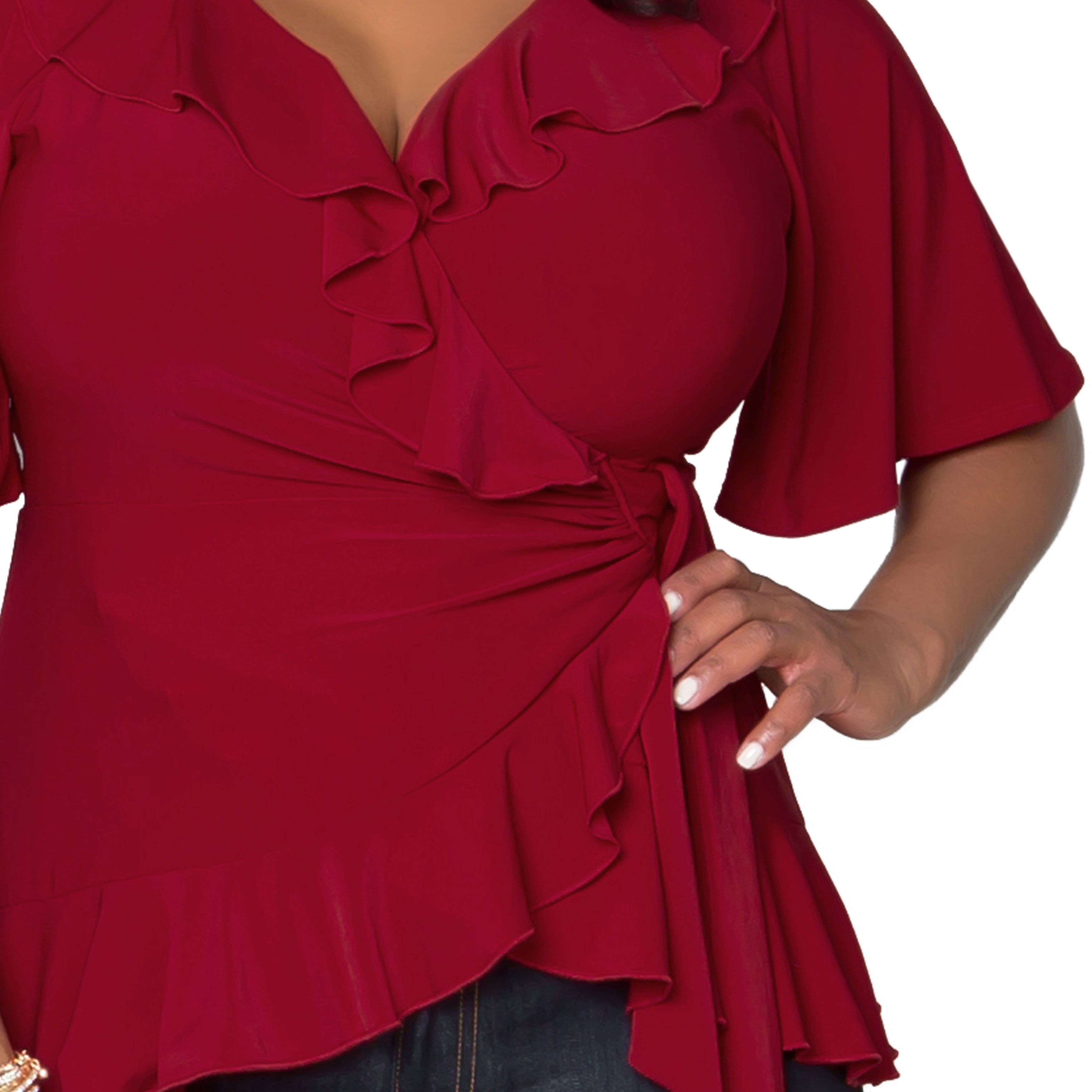 2072bded30961 Shop Kiyonna Women s Plus Size Whimsical Wrap Top - Free Shipping Today -  Overstock - 9207095