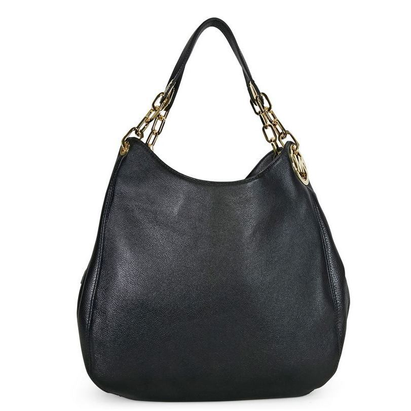 c41734867898c8 Shop MICHAEL Michael Kors 'Fulton' Large Black Shoulder Tote - Free  Shipping Today - Overstock - 9207129