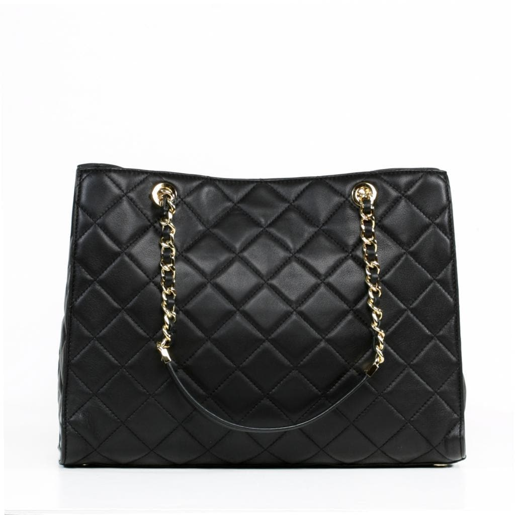 f09b12c94f99 Shop MICHAEL Michael Kors 'Susannah' Large Quilted Black Tote - Free  Shipping Today - Overstock - 9207156