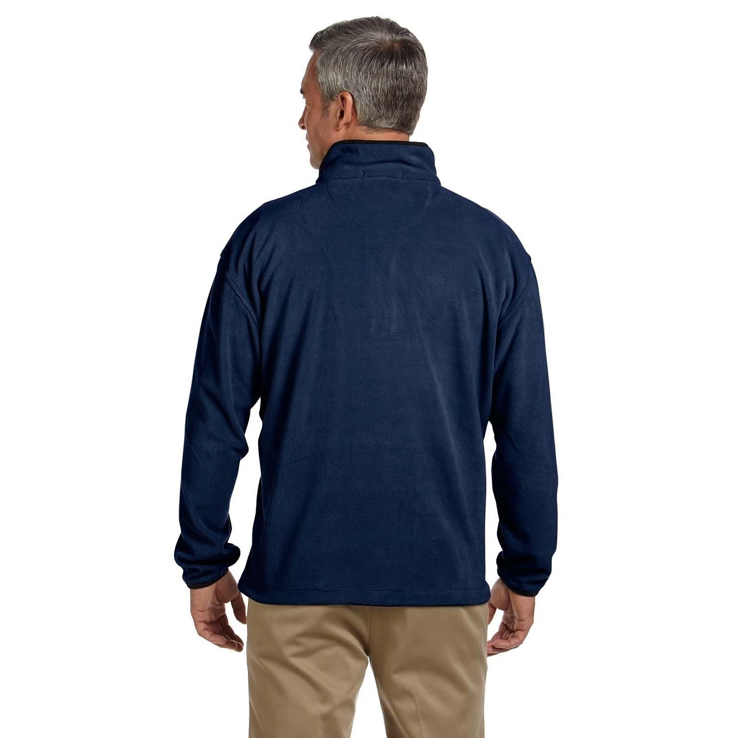 Shop Mens Microfleece Quarter Zip Pull Over Sweater On Sale