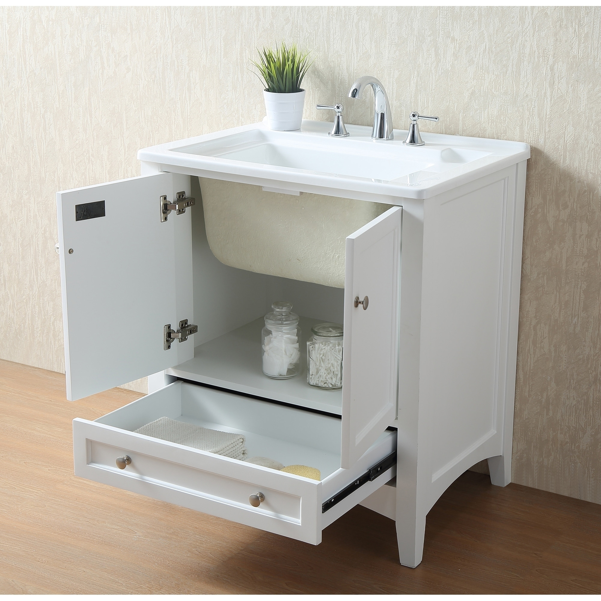 Merveilleux Shop Stufurhome 30 Inch White Laundry Utility Sink   Free Shipping Today    Overstock.com   9207432