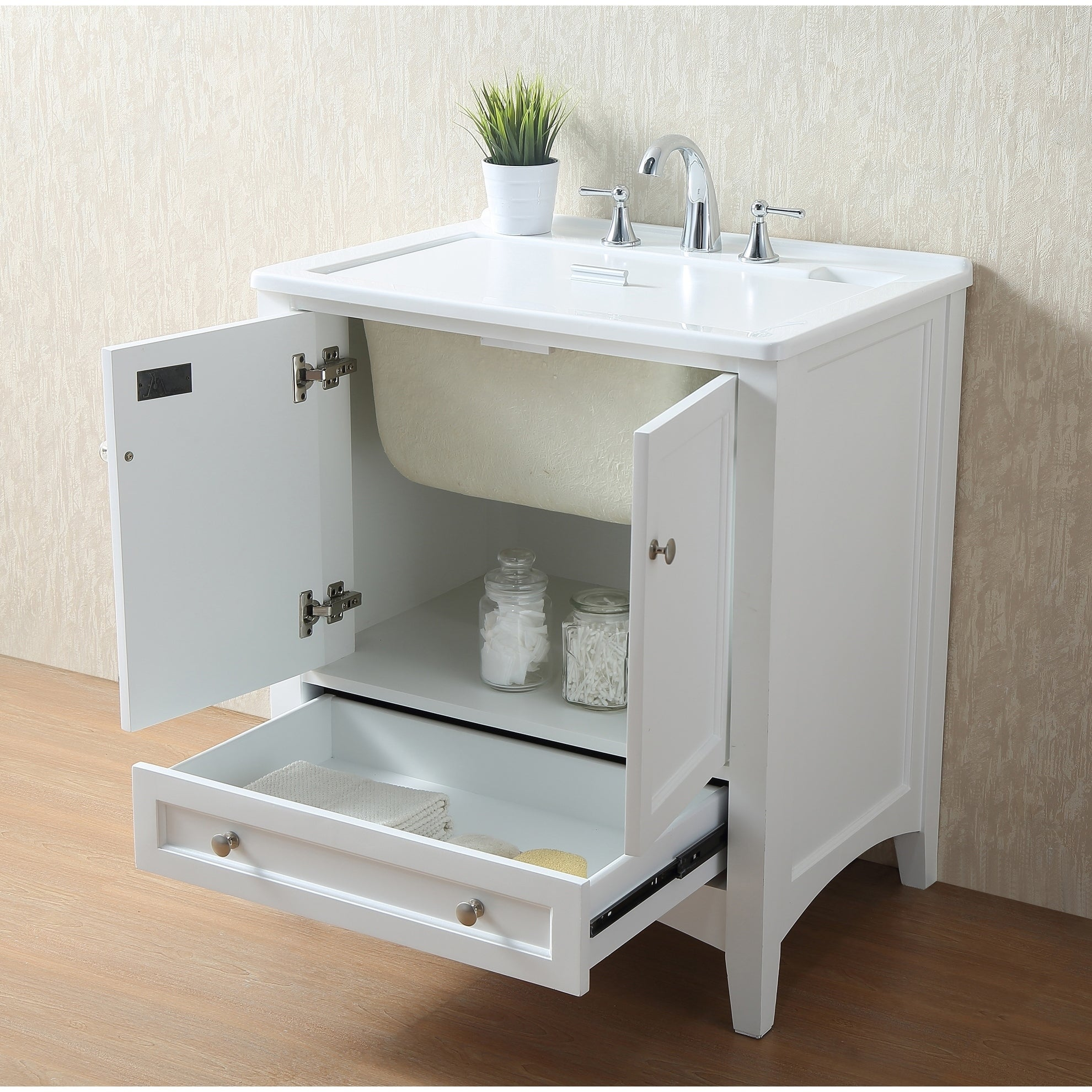 Stufurhome 30 Inch White Laundry Utility Sink Free Shipping Today 9207432