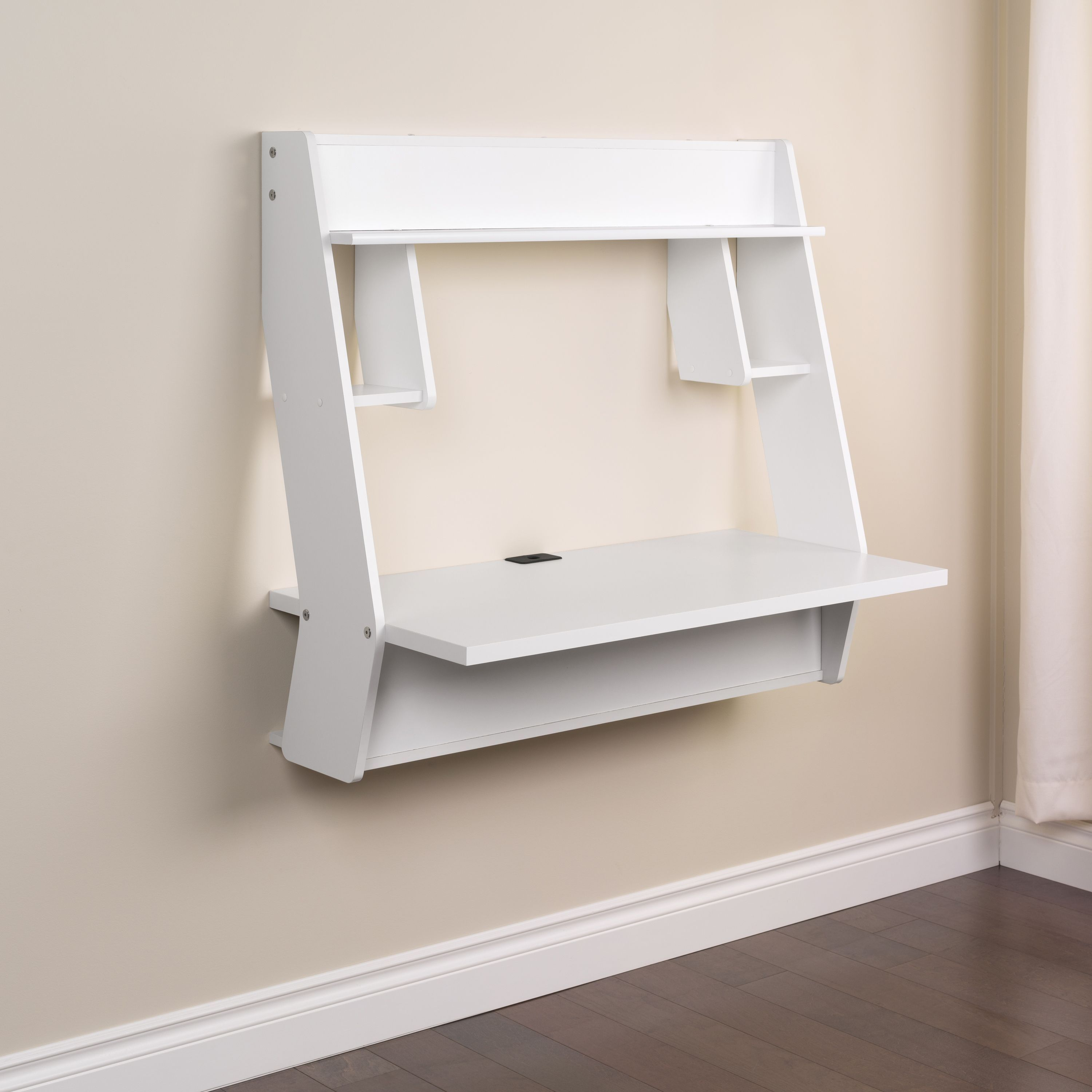 Winslow White Modern Floating Desk - Free Shipping Today - Overstock.com -  16378190