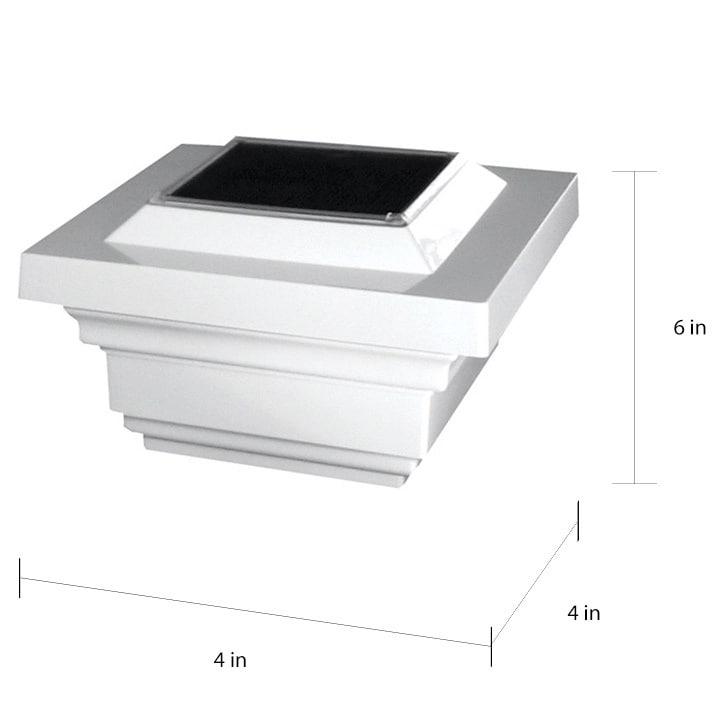 4x4 PVC Regal Solar Post Cap (Set of 2)