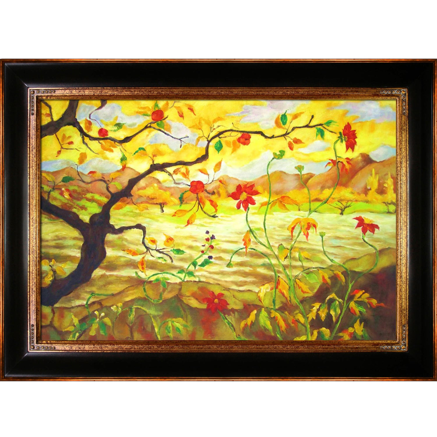 Shop Paul-Elie Ranson \'Apple Tree With Red Fruit\' Hand-painted ...