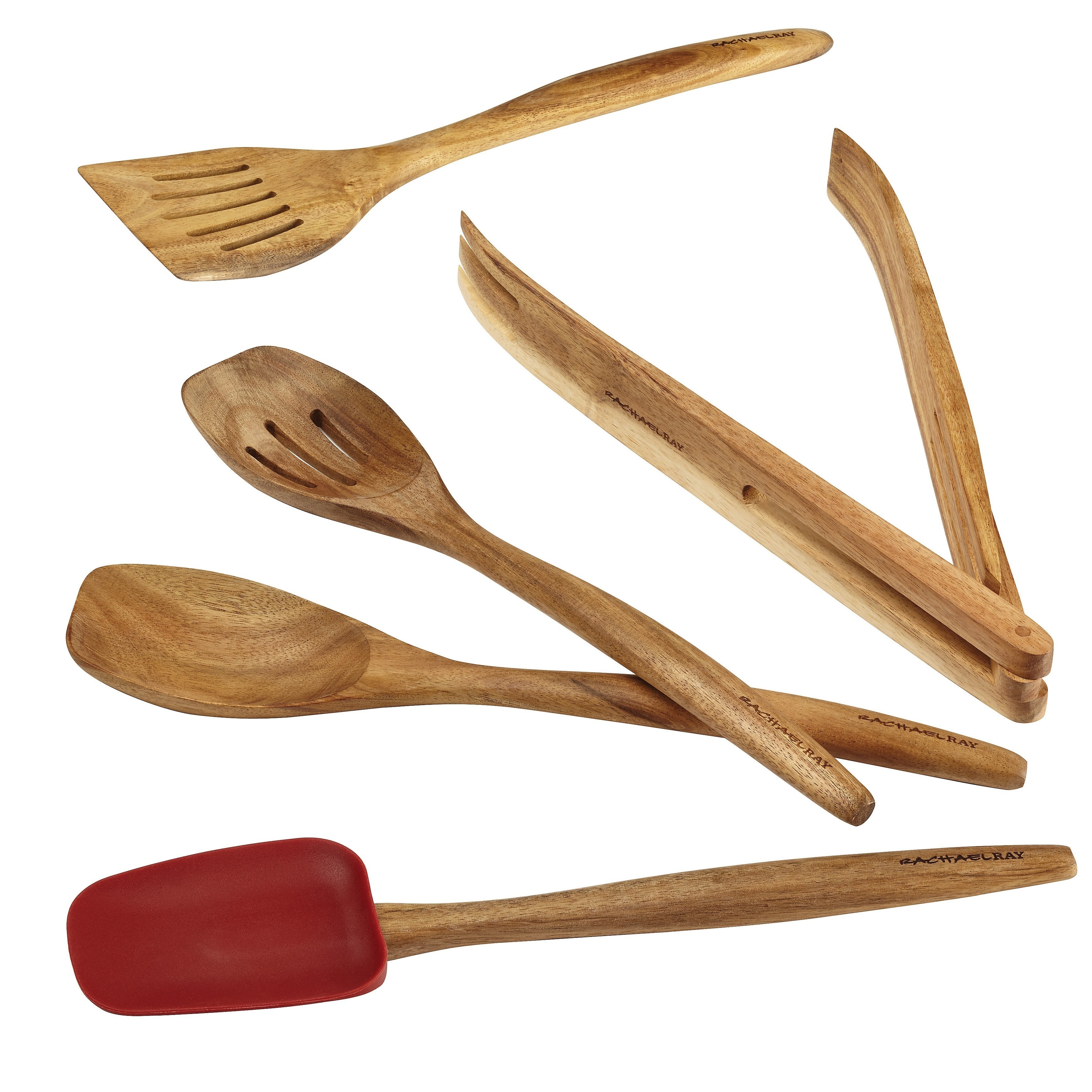 Rachael Ray Cucina Tools 5-piece Red Wooden Tool Set - Free Shipping ...