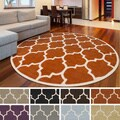 Hand-Tufted Katie Moroccan Cambridge Wool Rug (3'6 Round) - 3'6