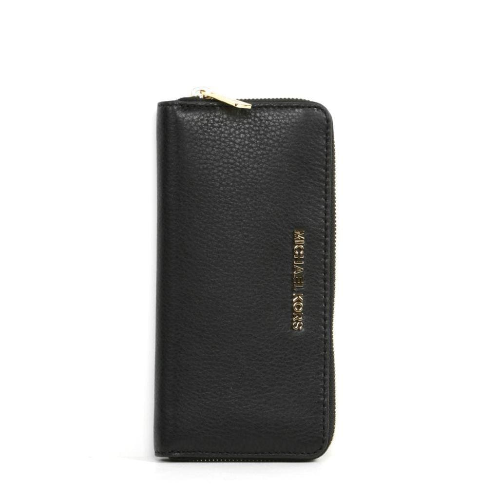 89078351cf1b Shop MICHAEL Michael Kors 'Bedford' Za Continental Black Wallet - Free  Shipping Today - Overstock - 9208423