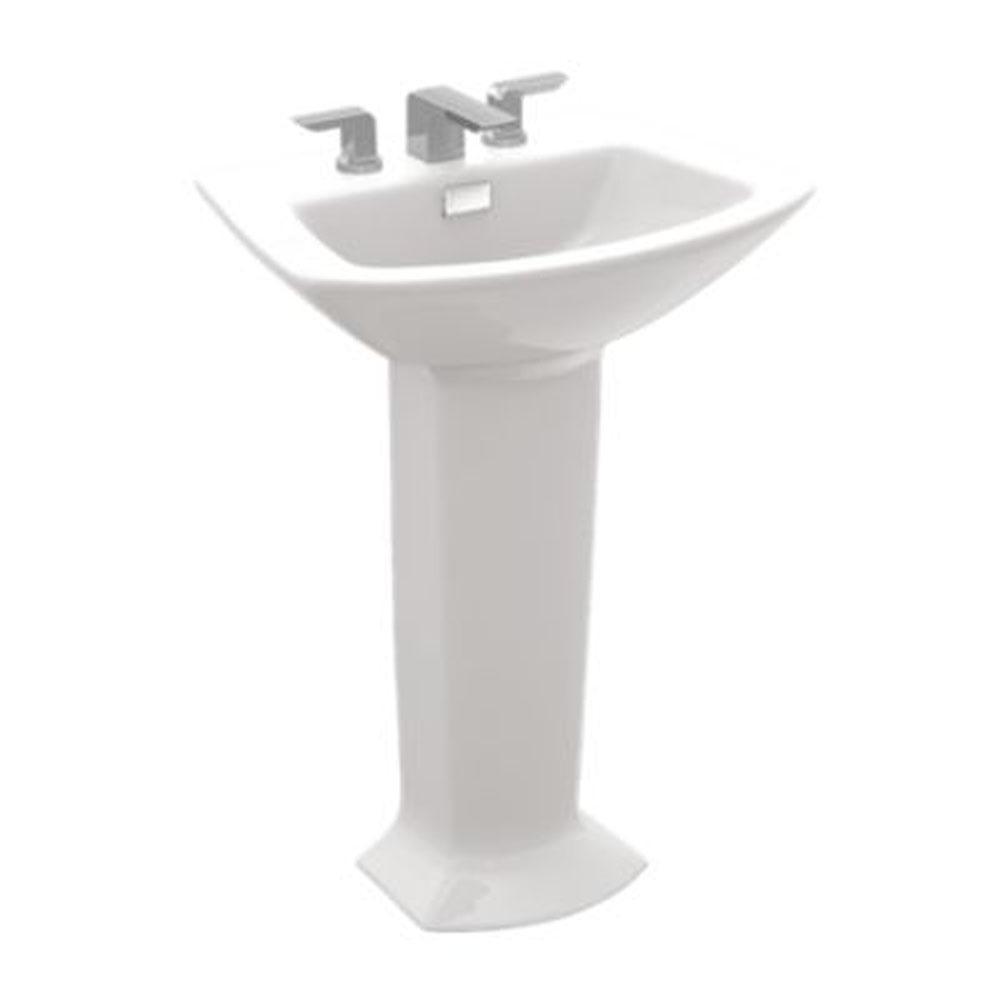 Shop Toto Soiree Pedestal Vitreous China Bathroom Sink LPT962.8#01 ...