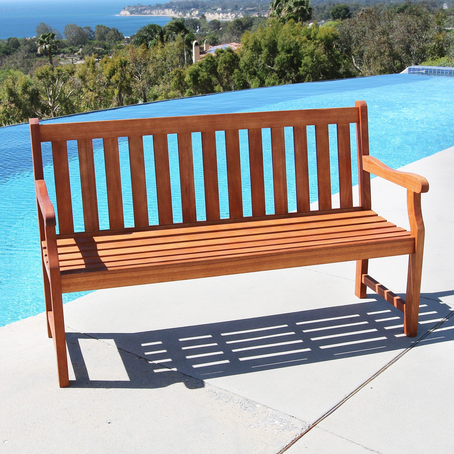 Perfect Baltic 5-foot Wood Garden Bench - Free Shipping Today - Overstock  YJ43