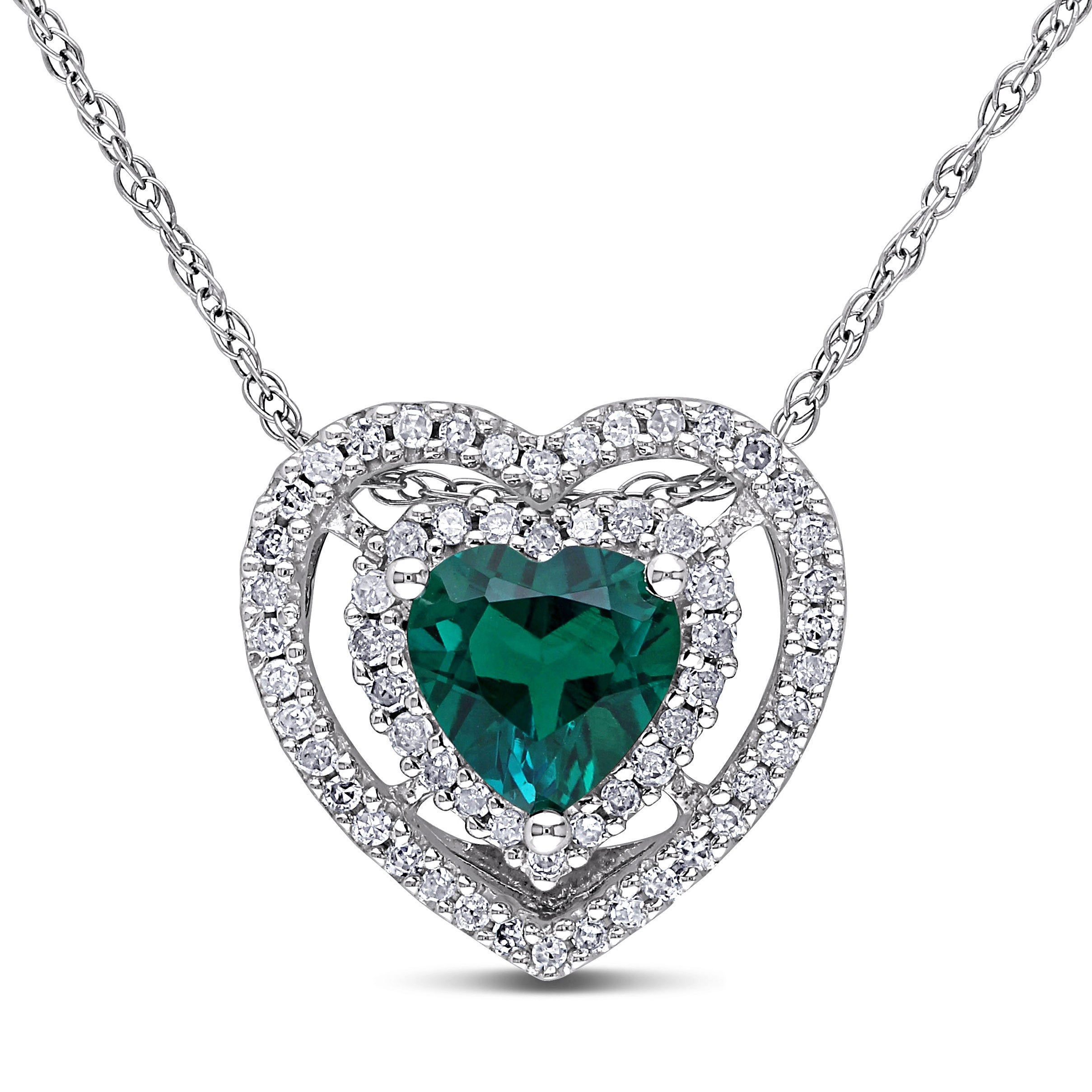 cubic emerald fashion silvertone stone blue zirconia sapphire halo diamond pendant beloved contemporary classic derie faux cut cz necklace products ct