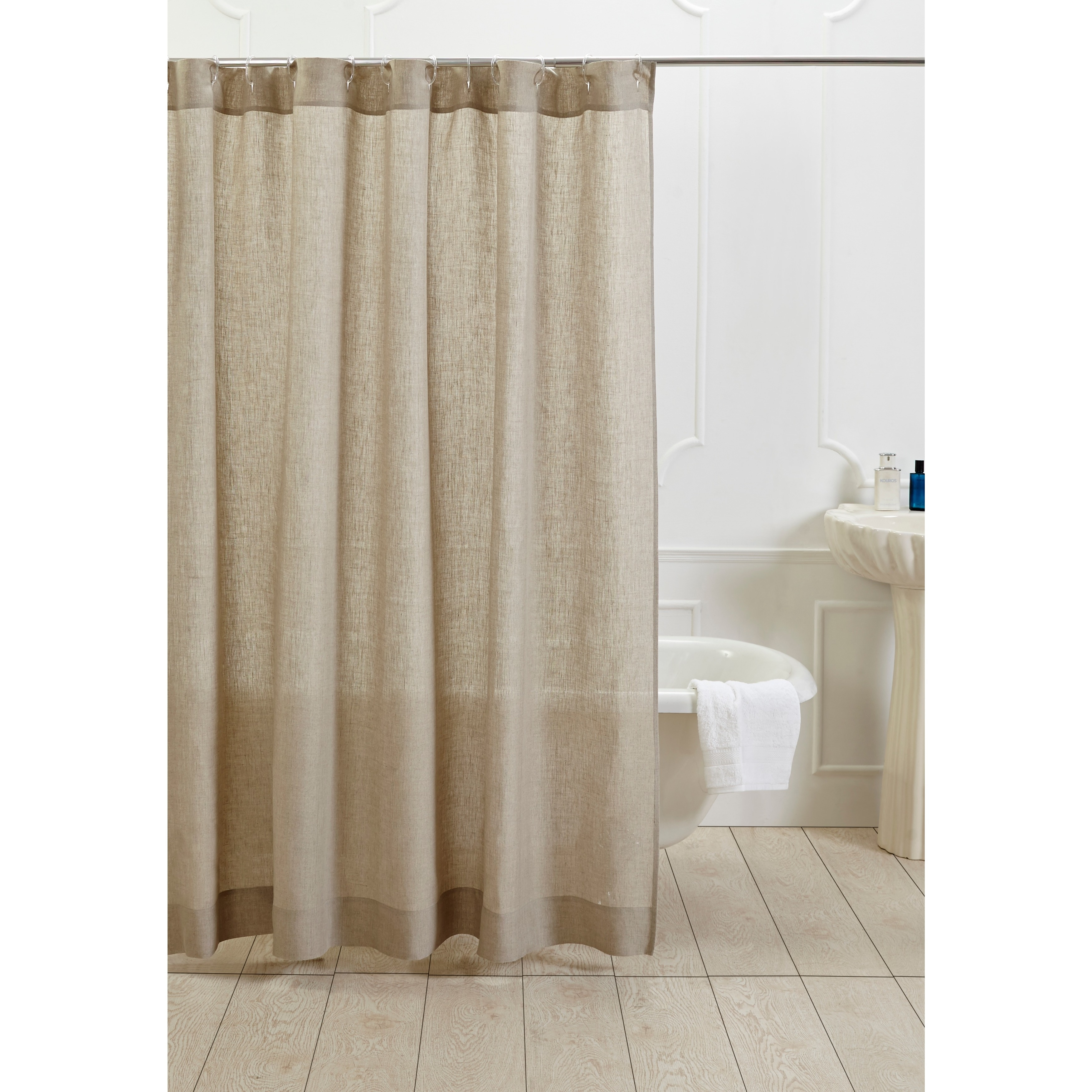 Shop Natural Cotton Linen Shower Curtain Free Shipping Today Overstock 9214801