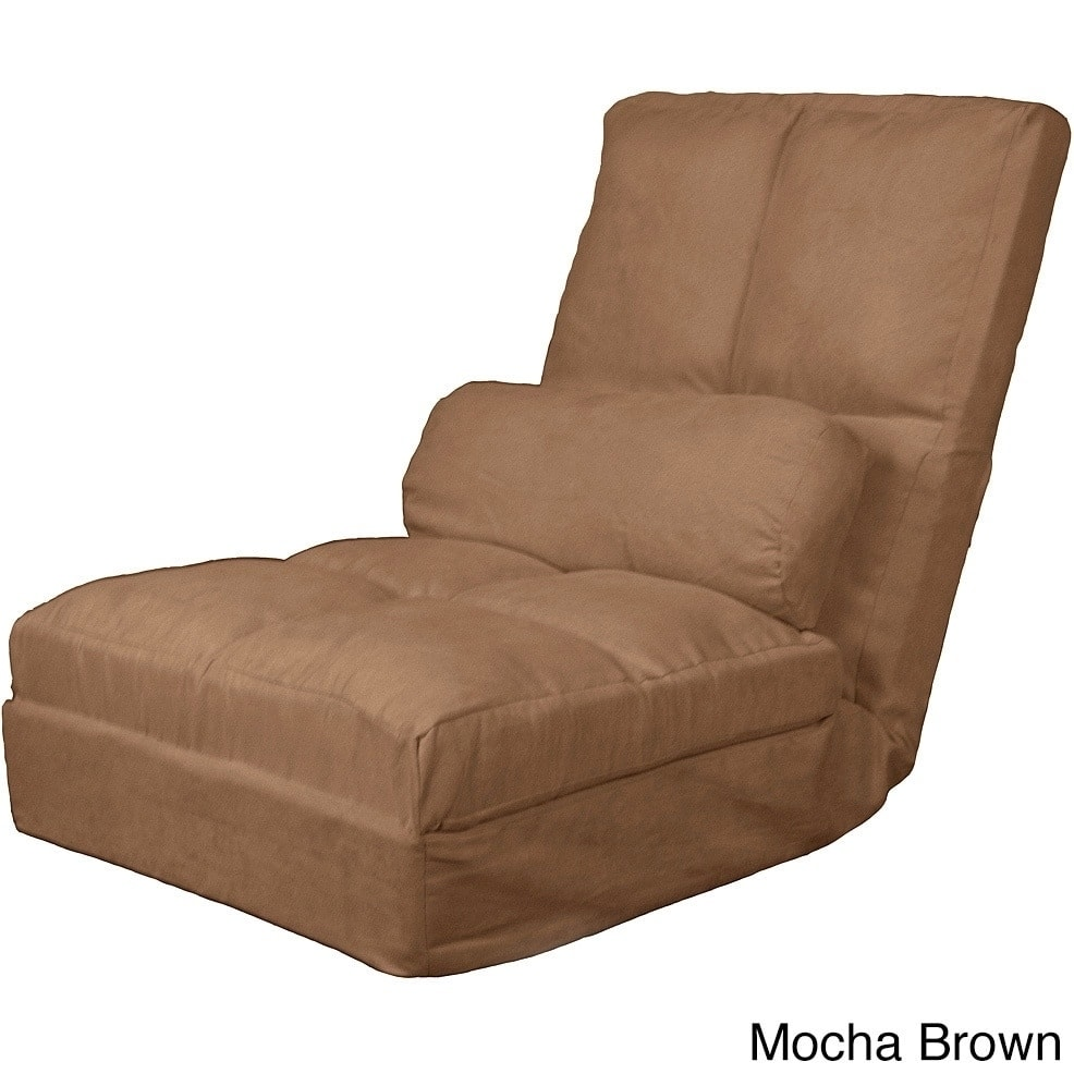 cosmo click clack convertible futon pillow-top flip chair sleeper