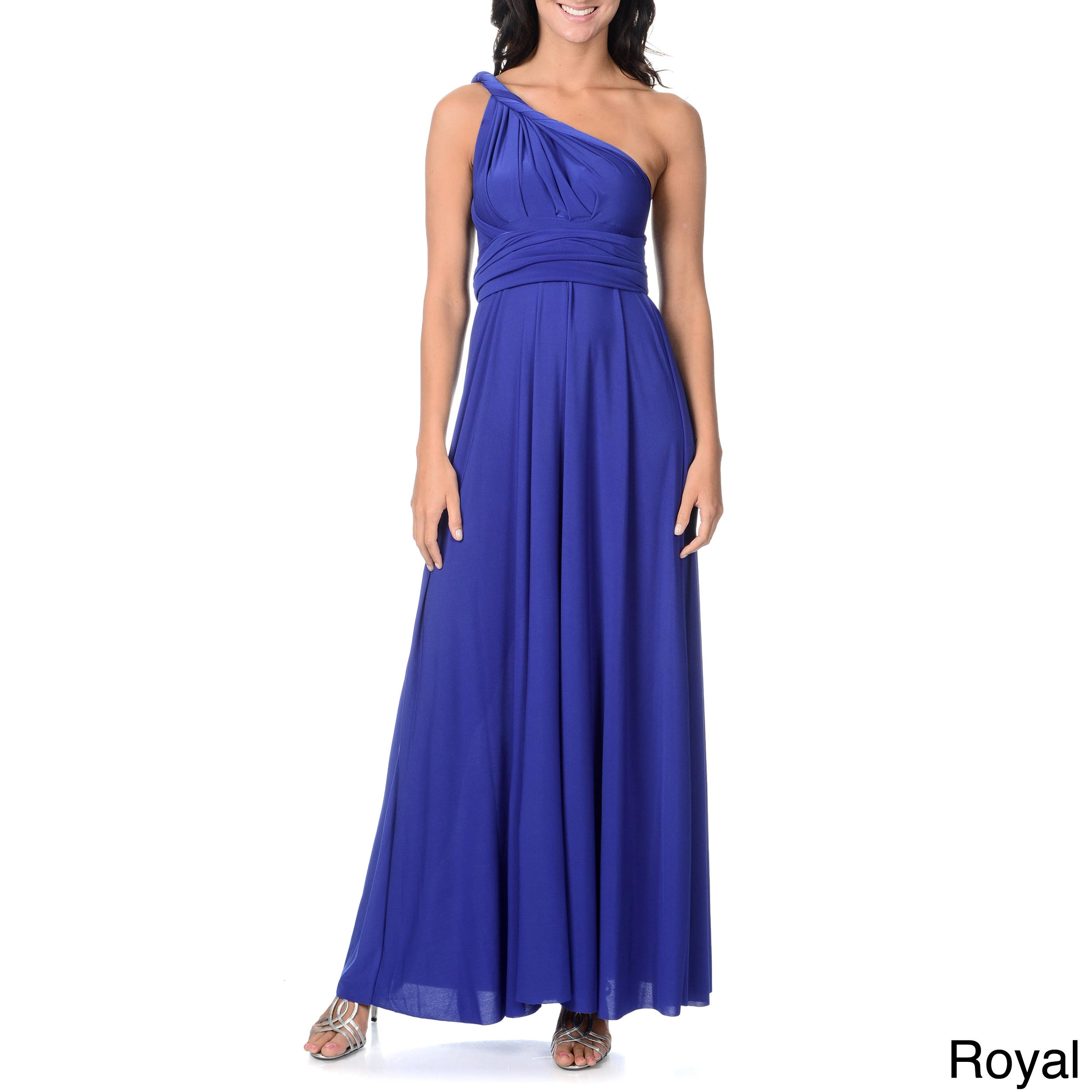 Women\'s Long Maxi Dress Convertible Wrap Cocktail Gown Bridesmaid ...