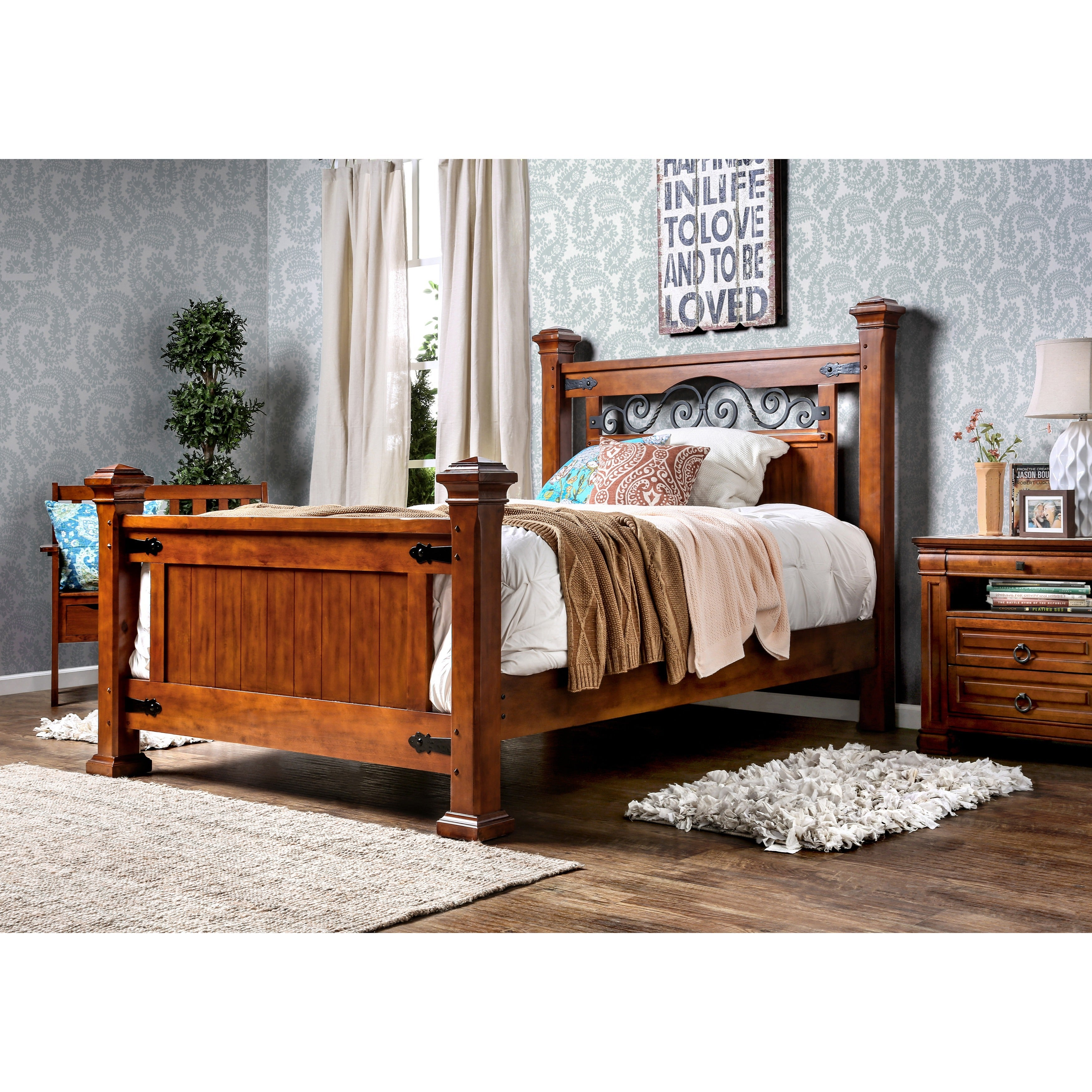 Furniture Of America Country Style Poster Bed  Free Shipping