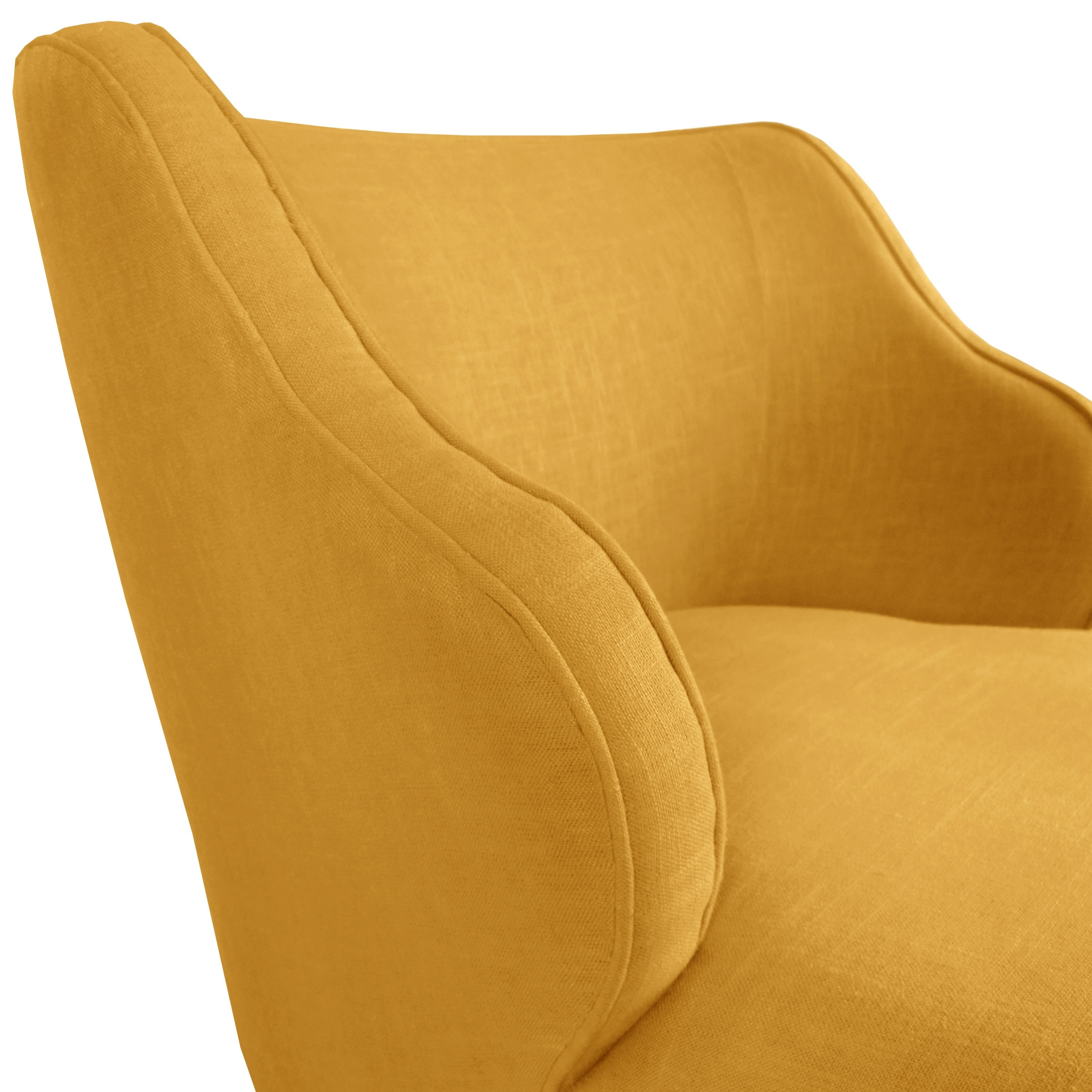 shop made to order modern chair in twill bright yellow free
