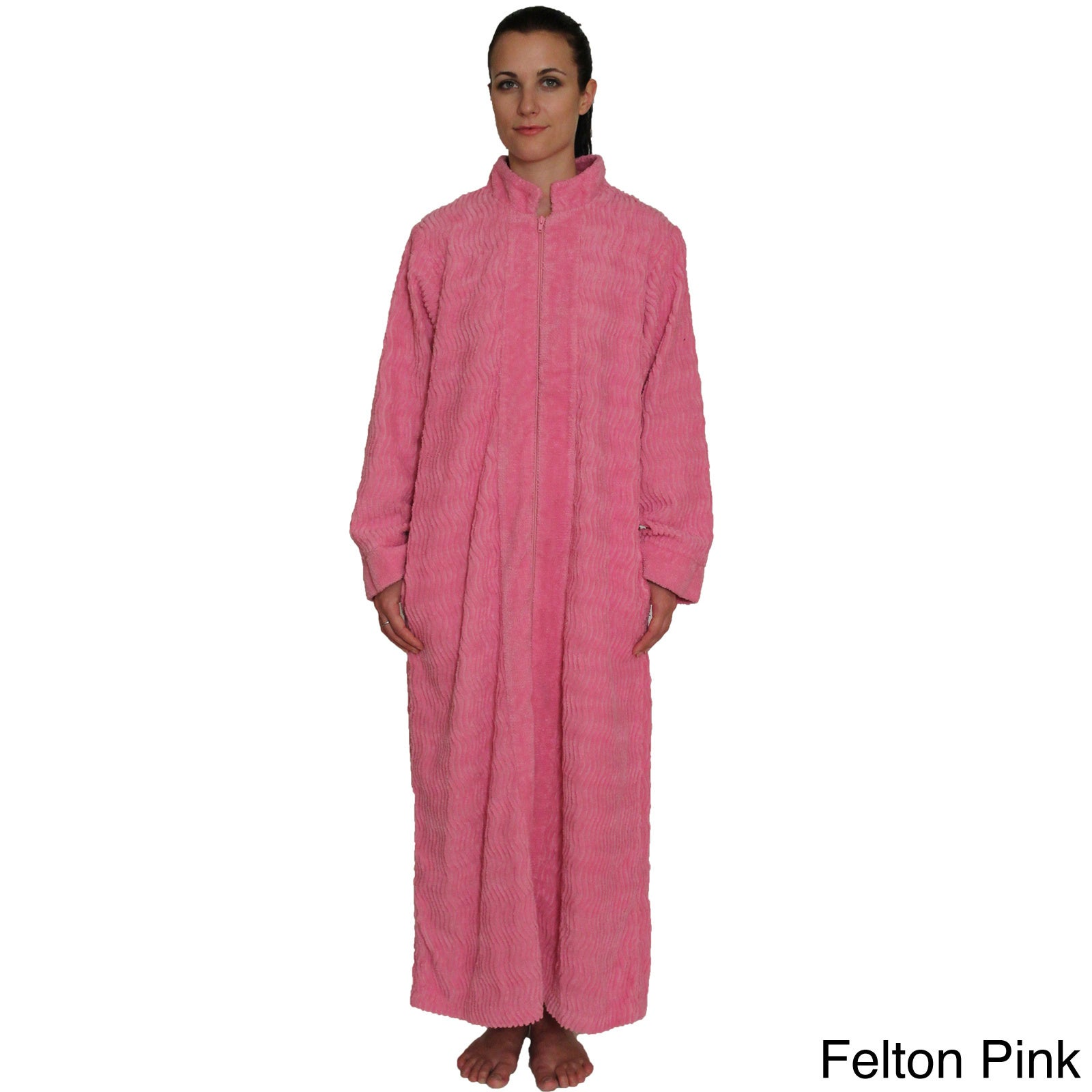 832ed86a06 Shop NDK New York Women s Cozy Zipper Front Cotton Chenille Robe - Ships To  Canada - Overstock - 9219027