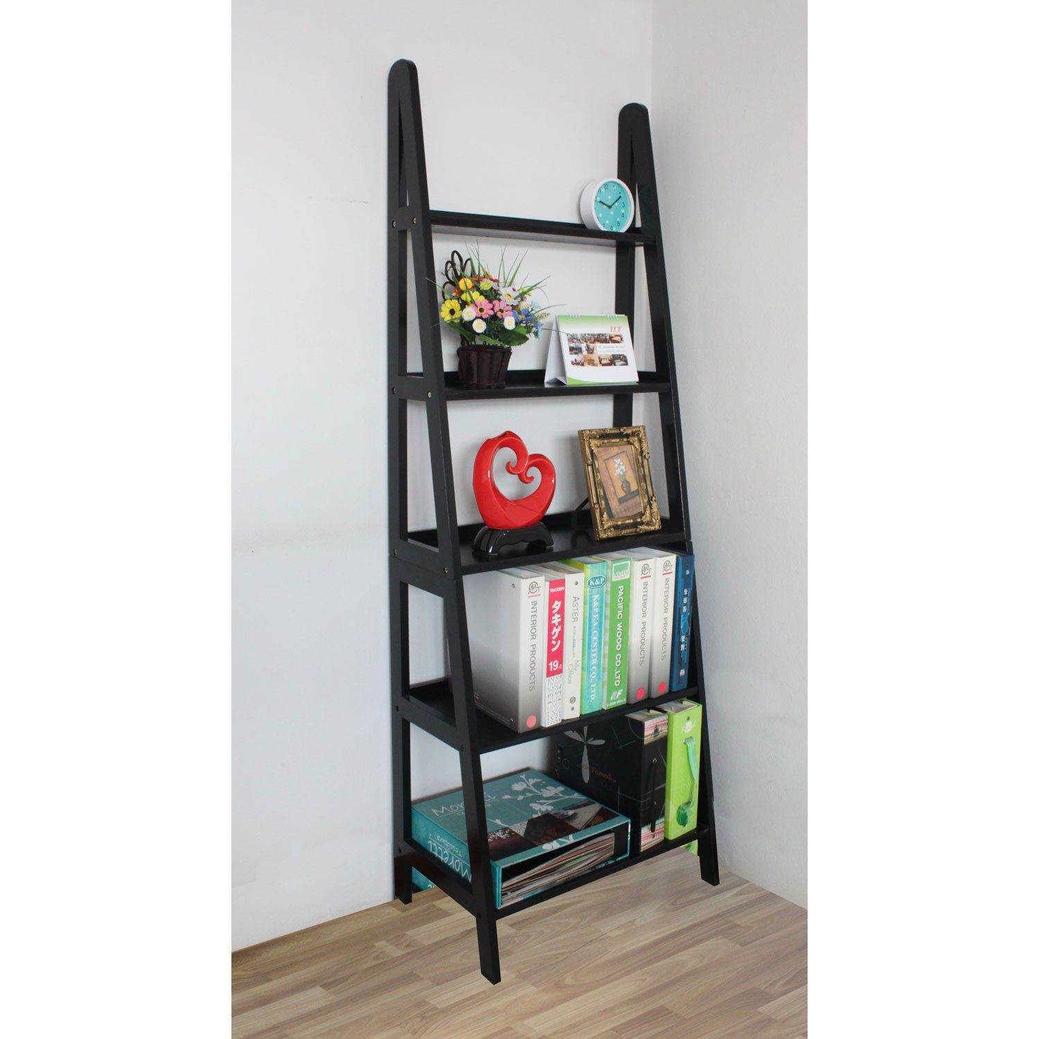 Shop Mintra 5-tier A-frame Black Ladder Shelf - Free Shipping Today ...