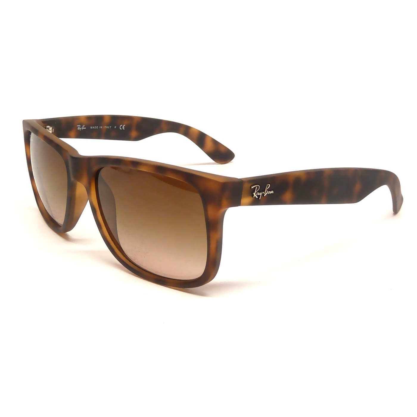 5a21b570c4 Shop Ray-Ban Justin Matte Tortoise Frame Brown Gradient 55mm Wayfarer  Sunglasses - Free Shipping Today - Overstock - 9221980