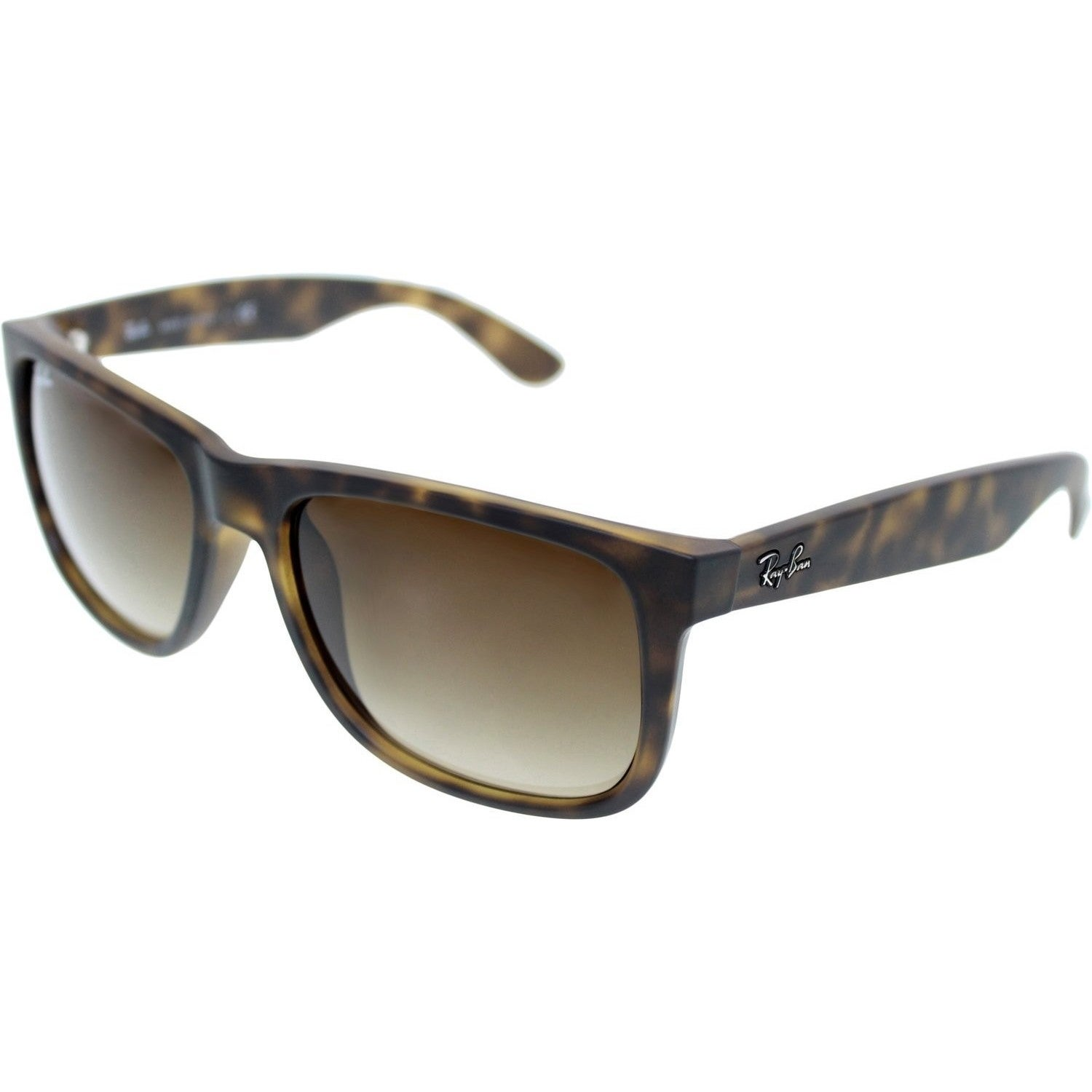 f479ac63b Shop Ray-Ban Justin Matte Tortoise Frame/Brown Gradient 55mm Wayfarer  Sunglasses - Free Shipping Today - Overstock - 9221980