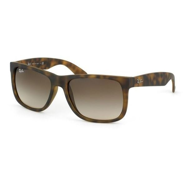aa76f8df79 Shop Ray-Ban Justin Matte Tortoise Frame Brown Gradient 55mm Wayfarer  Sunglasses - Free Shipping Today - Overstock - 9221980