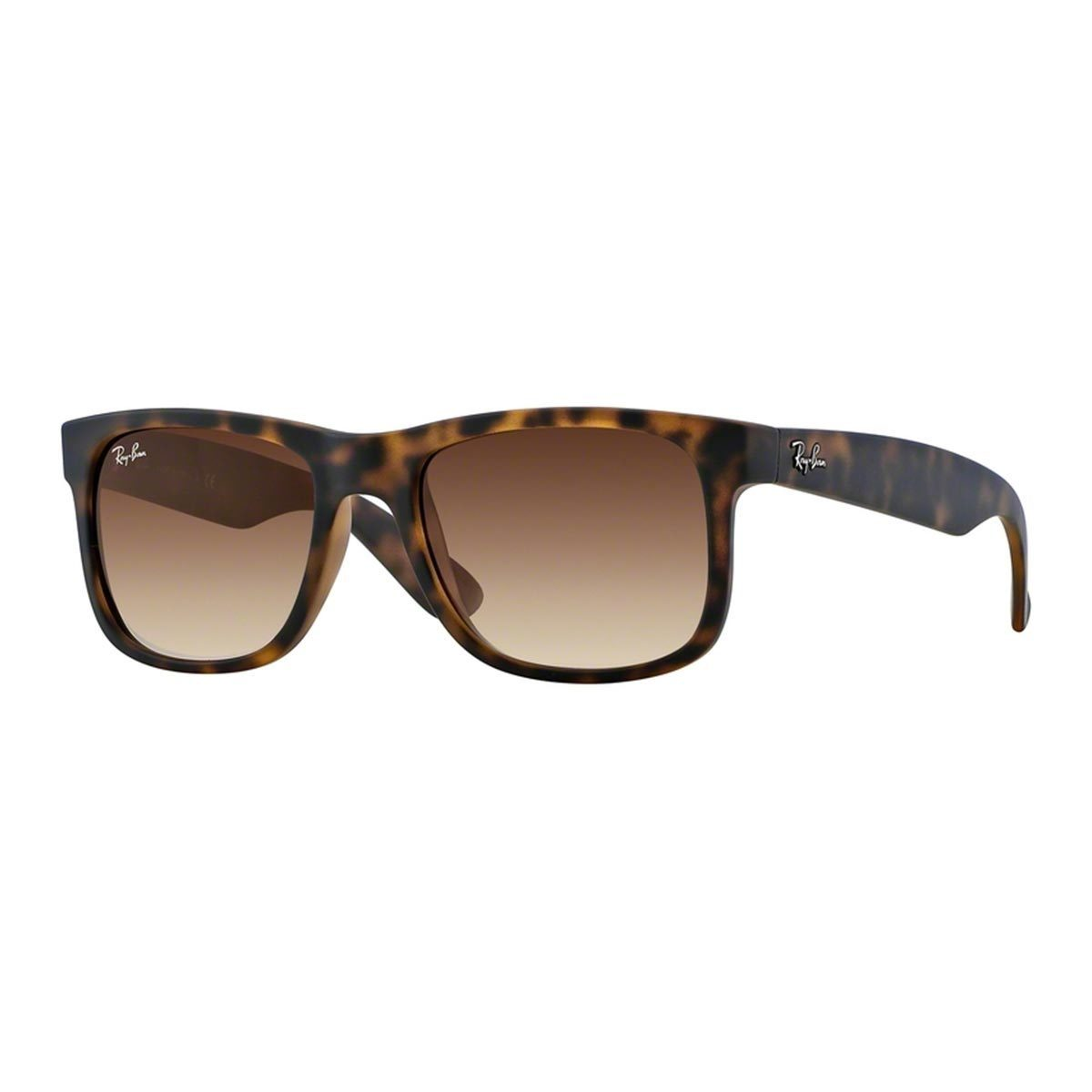 9307e626fe Shop Ray-Ban Justin Matte Tortoise Frame Brown Gradient 55mm Wayfarer  Sunglasses - Free Shipping Today - Overstock - 9221980
