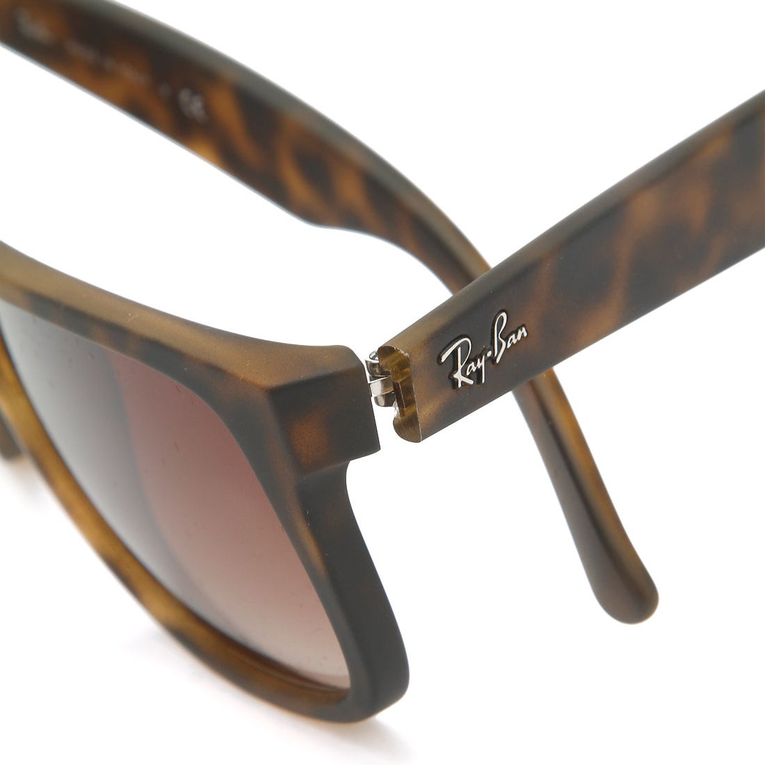 1fd35fdee1 ... 50% off shop ray ban justin matte tortoise frame brown gradient 55mm  wayfarer sunglasses free