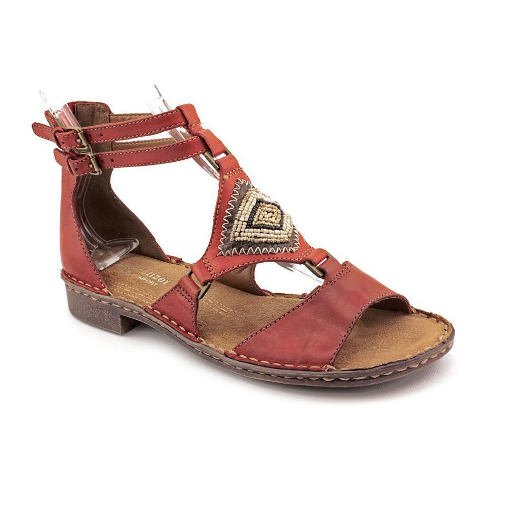 b9de7d24ffb1 Shop Naturalizer Women s  Reconnect  Leather Sandals - Wide (Size 8.5 ) -  Free Shipping On Orders Over  45 - Overstock - 9222636